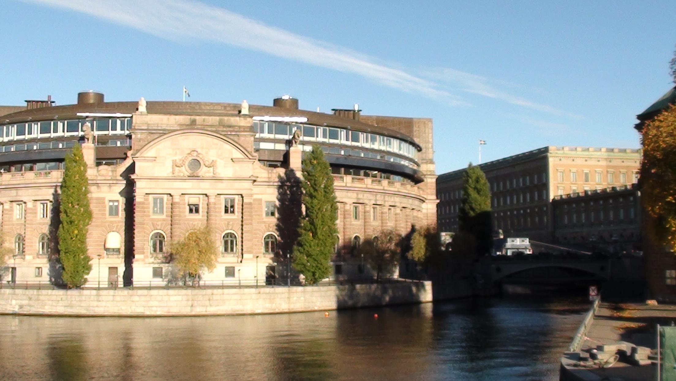 Riksdagshuset och Kungliga slottet